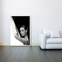 Audrey Hepburn, Prints & Posters, Decorative Arts, Wall Art Print, Poster Any Size - Black and White Poster